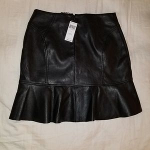 BCBGMAXAZRIA black leather skirt nwt S
